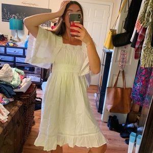 FOURTYS   White Lace Hippie Boho Lace Sundress